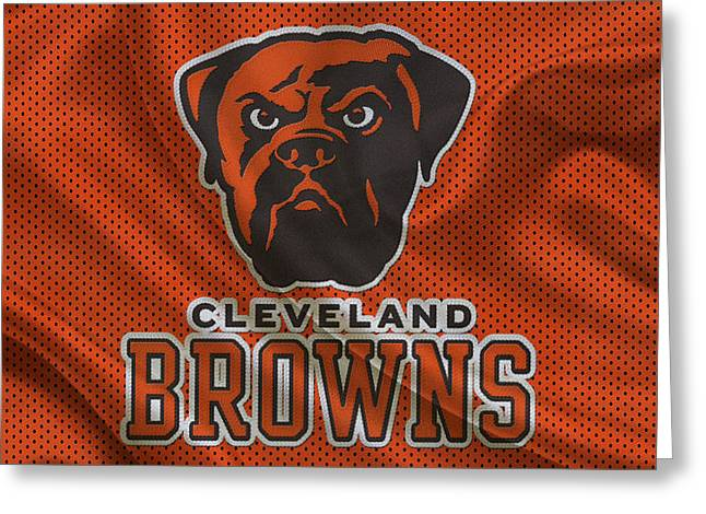 Greeting Cards Greeting Cards - Cleveland Browns Greeting Card by Joe Hamilton