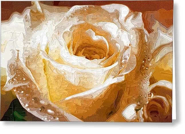 Printables Greeting Cards - Decorative Painting Flowers Greeting Card by Victor Gladkiy
