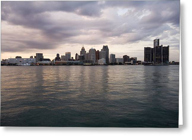 Best Sellers -  - Renaissance Center Greeting Cards - Detroit Skyline Greeting Card by Gary Marx