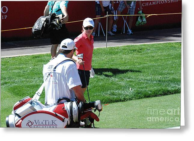 Lpga Greeting Cards - LPGA 2013 Kraft Nabisco Greeting Card by Barry Luroe