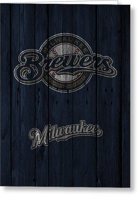 Recently Sold -  - Glove Greeting Cards - Milwaukee Brewers Greeting Card by Joe Hamilton