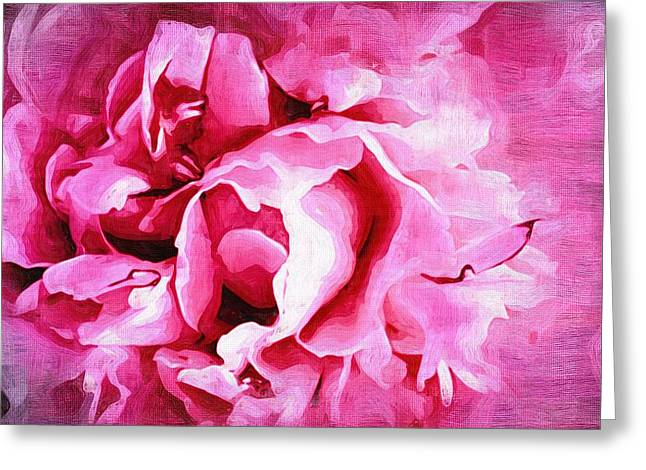 Close Up Paintings Greeting Cards - Paintings With Flowers Greeting Card by Victor Gladkiy