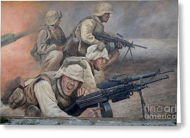 Best Sellers -  - Bravery Greeting Cards - 29 Palms Mural 1 Greeting Card by Bob Christopher