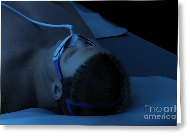 Disorder Greeting Cards - Sleep Apnea Greeting Card by Science Picture Co