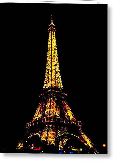 White Greeting Cards - The Many Faces Of The Eiffel Tower in Paris France Greeting Card by Richard Rosenshein