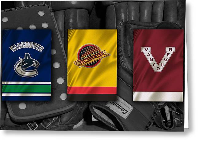 Vancouver Canucks Greeting Cards - Vancouver Canucks Greeting Card by Joe Hamilton