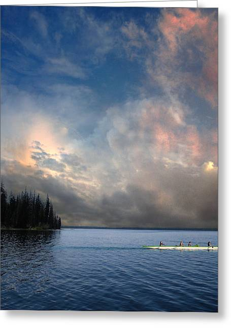 Canoe Greeting Cards - 2975 Greeting Card by Peter Holme III