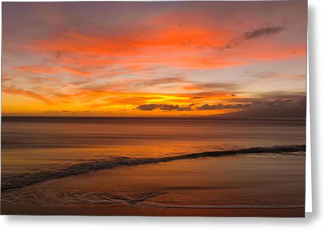 Sunset Seascape Greeting Cards - 2997 Greeting Card by Peter Holme III