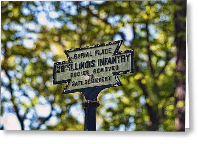 Landing Place Greeting Cards - 29th Illinois Burial Greeting Card by Mike Talplacido