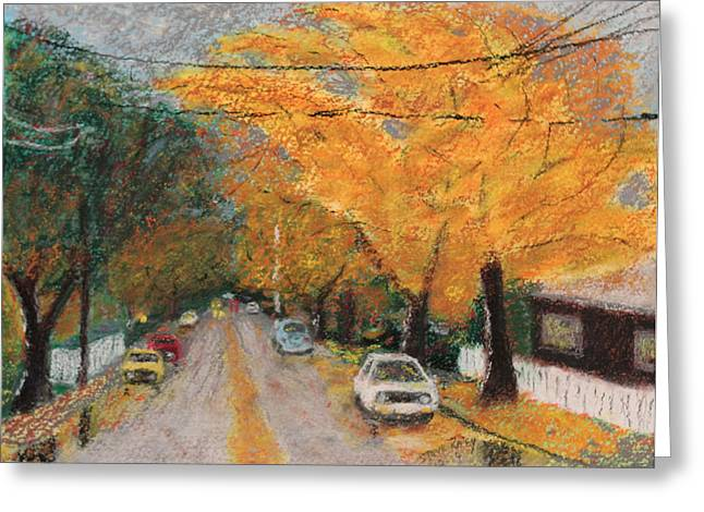 Tree Lines Pastels Greeting Cards - 2nd Avenue Greeting Card by Stephen Raley