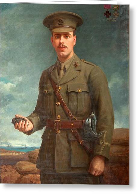 Wwi Paintings Greeting Cards - 2nd Lieutenant Alfred Victor Smith, Vc Greeting Card by Isaac Cooke