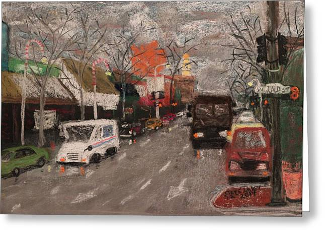 Street Art Pastels Greeting Cards - 2nd Street Greeting Card by Stephen Raley