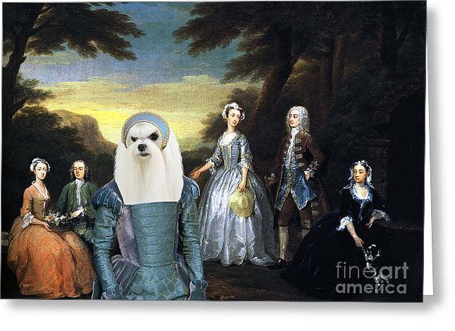 Maltese Dogs Greeting Cards -  Maltese Art Canvas Print Greeting Card by Sandra Sij