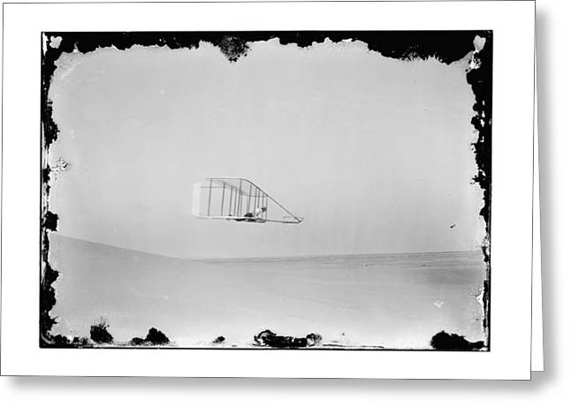 Pilot Greeting Cards - 1902 Wilbur Wright Piloting Glider Greeting Card by MMG Archives