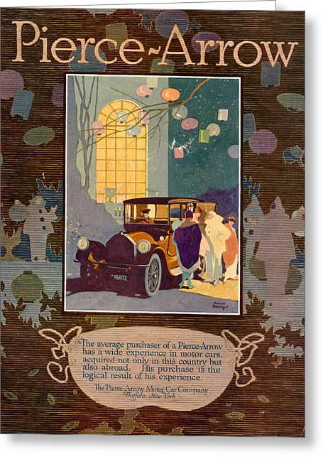 1916 Drawings Greeting Cards - 1910s Usa Pierce-arrow Magazine Advert Greeting Card by The Advertising Archives