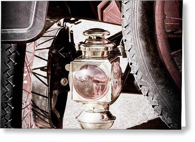 1911 Ford Model T Torpedo 4 cylinder 25 HP Taillight Greeting Card by Jill Reger
