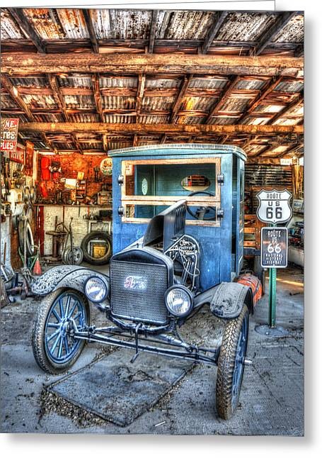Ford Model T Car Greeting Cards - 1919 Ford Model T Greeting Card by Robert Jensen