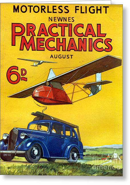 1930s Uk Practical Mechanics Magazine Greeting Card by The Advertising Archives
