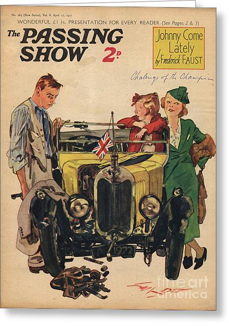 1930s,uk,passing Show,magazine Cover Greeting Card by The Advertising Archives