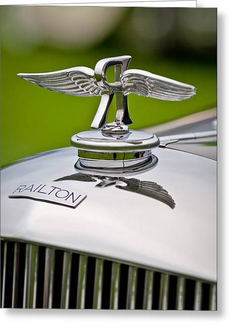 2011 Greeting Cards - 1937 Railton Rippon Brothers Special Limousine Hood Ornament Greeting Card by Jill Reger