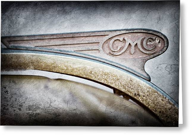 General Motors Company Greeting Cards - 1938 GMC Hood Ornament Greeting Card by Jill Reger