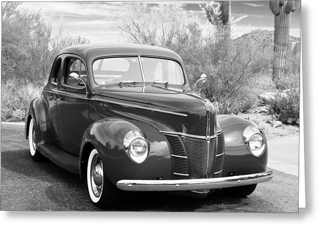 Greys Greeting Cards - 1940 Ford Deluxe Coupe Greeting Card by Jill Reger