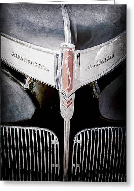 1941 Studebaker Champion Hood Emblem Greeting Card by Jill Reger