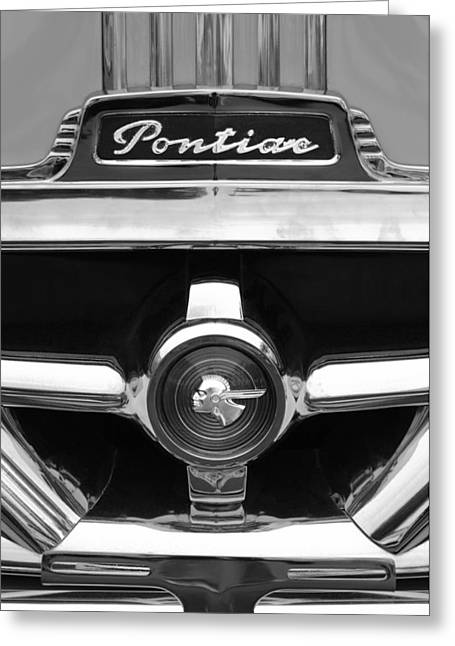 1951 Greeting Cards - 1951 Pontiac Streamliner Grille Emblem Greeting Card by Jill Reger