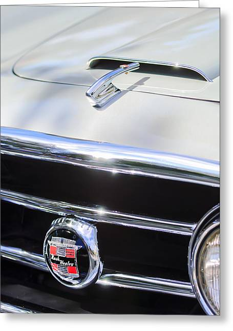 Nash Greeting Cards - 1953 Nash-Healey Convertible Grille Emblem Greeting Card by Jill Reger