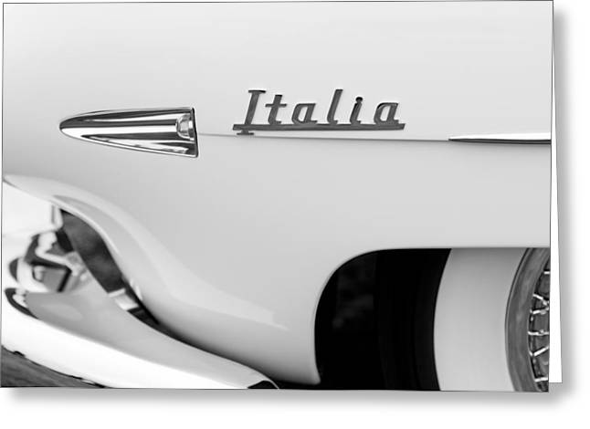 Touring Greeting Cards - 1954 Hudson Italia Touring Coupe Emblem Greeting Card by Jill Reger