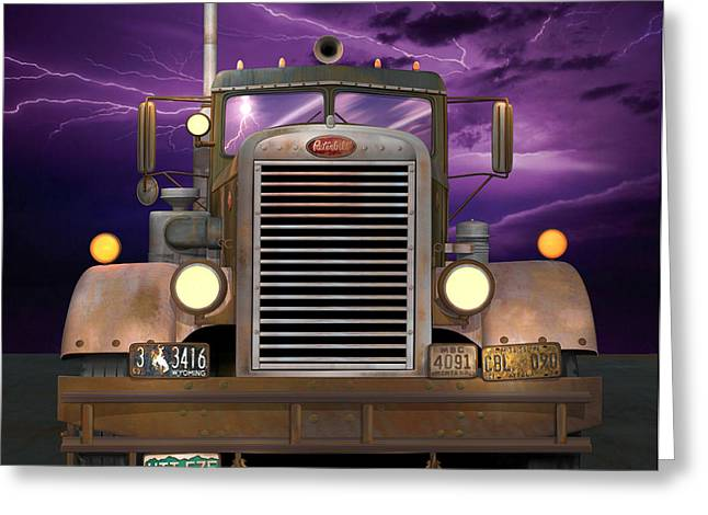 1955 Peterbilt Greeting Card by Stuart Swartz