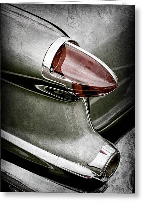 Oldsmobile Greeting Cards - 1956 Oldsmobile 98 Taillight Greeting Card by Jill Reger