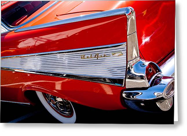David Patterson Greeting Cards - 1957 Chevy Bel Air Custom Hot Rod Greeting Card by David Patterson