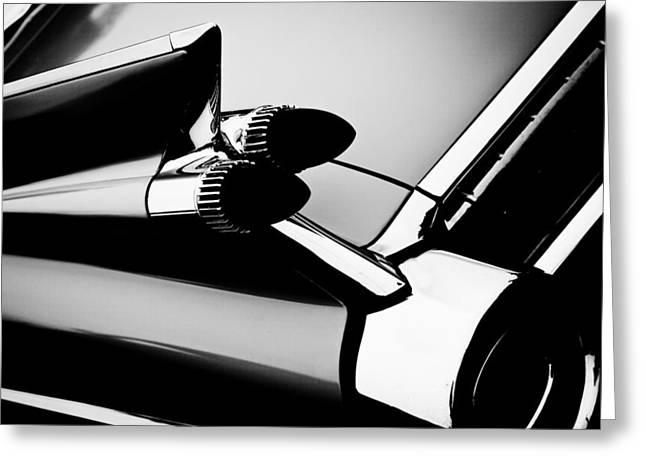 Radiator Badge Greeting Cards - 1959 Cadillac Convertible Greeting Card by David Patterson