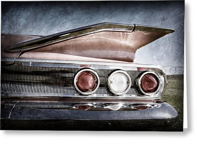 Restos Greeting Cards - 1960 Chevrolet Impala Resto Rod Taillight Greeting Card by Jill Reger