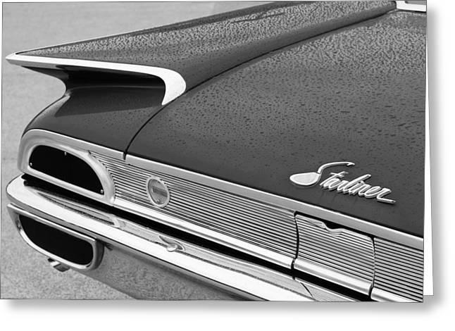 1960 Ford Galaxie Starliner Taillight Emblem Greeting Card by Jill Reger