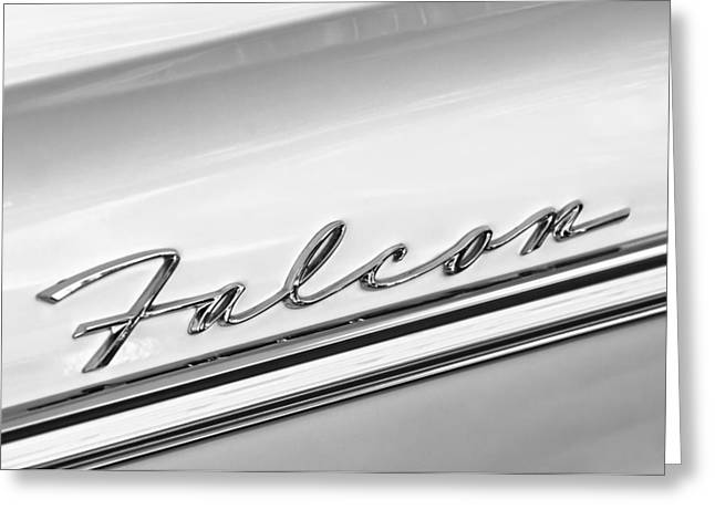 1963 Ford Greeting Cards - 1963 Ford Falcon Futura Convertible   Emblem Greeting Card by Jill Reger