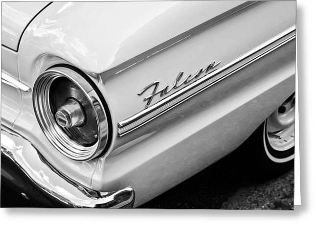 1963 Ford Greeting Cards - 1963 Ford Falcon Futura Convertible Taillight Emblem Greeting Card by Jill Reger
