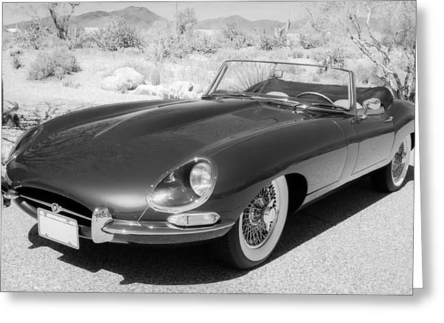 1963 Greeting Cards - 1963 Jaguar XKE Roadster Greeting Card by Jill Reger