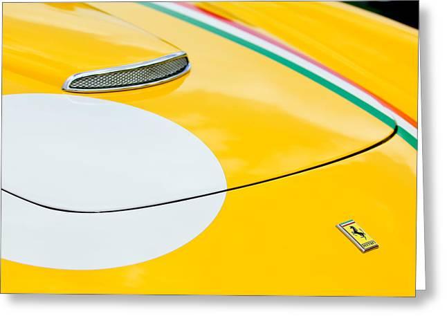 Ferrari 250gt Greeting Cards - 1964 Ferrari 250 GT Lusso Hood Emblem Greeting Card by Jill Reger