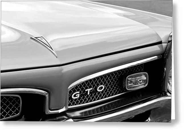Pontiac Gto Greeting Cards - 1967 Pontiac GTO Grille Emblem Greeting Card by Jill Reger