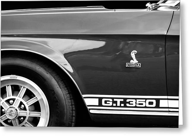 Gt-350 Greeting Cards - 1968 Shelby GT350 Side Emblem Greeting Card by Jill Reger