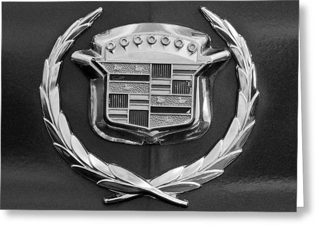 1969 Greeting Cards - 1969 Cadillac Eldorado Emblem Greeting Card by Jill Reger