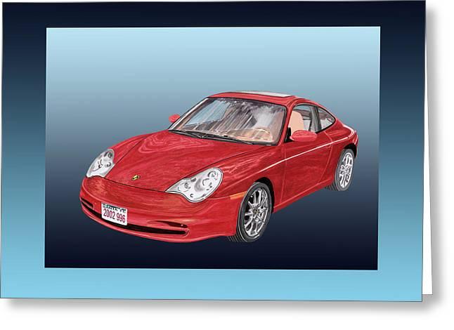 Badass Greeting Cards - 2002 Porsche 996 Greeting Card by Jack Pumphrey