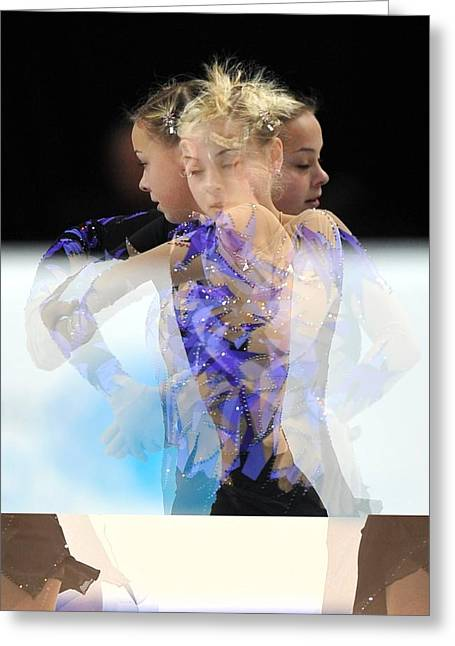 Figure Skater Greeting Cards - 2012 European Figure Skating Greeting Card by Science Photo Library