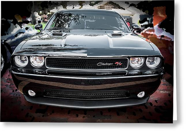 Rich Franco Greeting Cards - 2013 Dodge Challenger  Greeting Card by Rich Franco