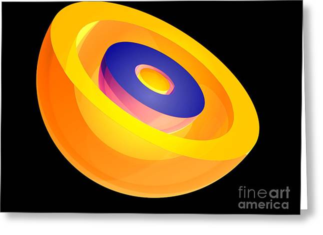 3s Electron Orbital Greeting Card by Laguna Design