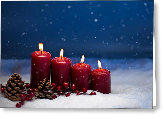 4th Greeting Cards - 4th Advent  Greeting Card by Ulrich Schade