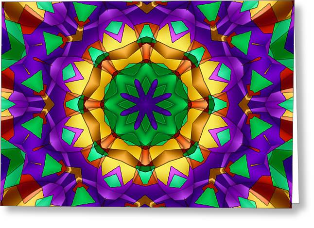 Recently Sold -  - Geometric Design Greeting Cards - 8 Element Success Kaleidoscope Greeting Card by Ludek Sagi Lukac