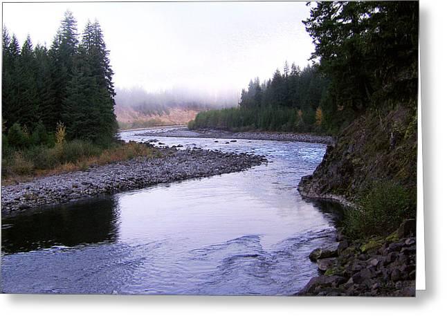 A Mountain Stream Greeting Card by J D Owen